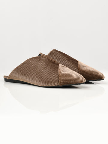 Stripe Textured Shoes - Brown