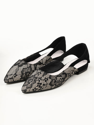 Shimmer Net Shoes - Black
