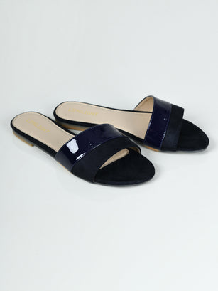 Dual Texture Slides - Navy