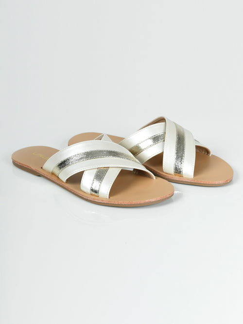 Crisscross Slides - Off White