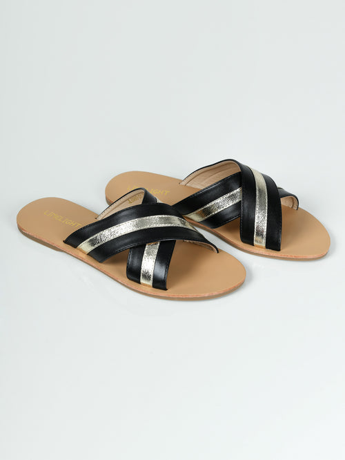 Crisscross Slides - Black