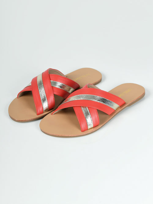Crisscross Slides - Orange