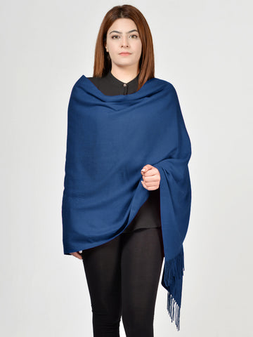 Plain Woolen Shawl - Light Blue