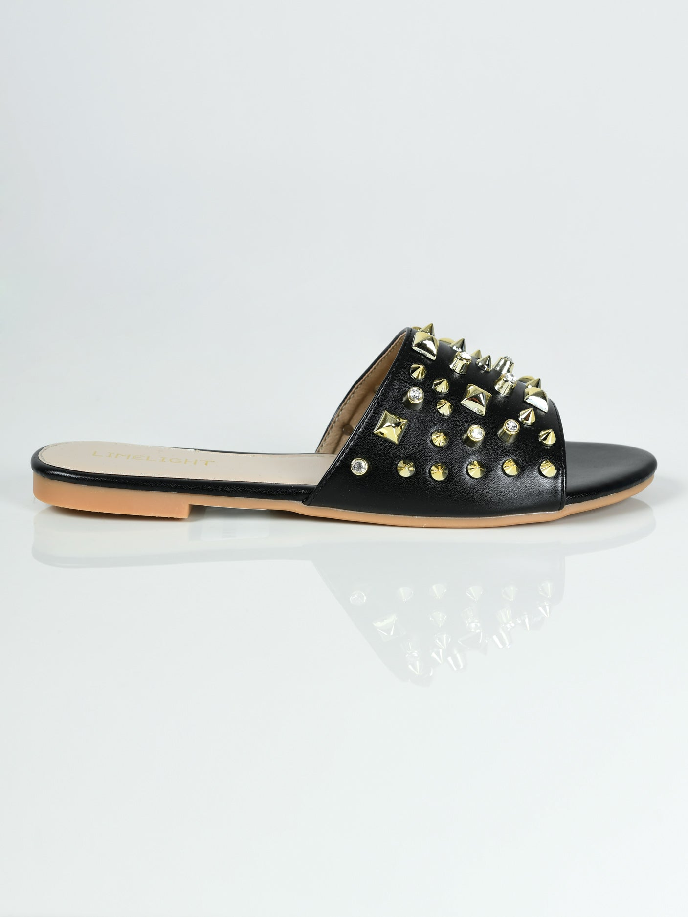 Studded Slides - Black