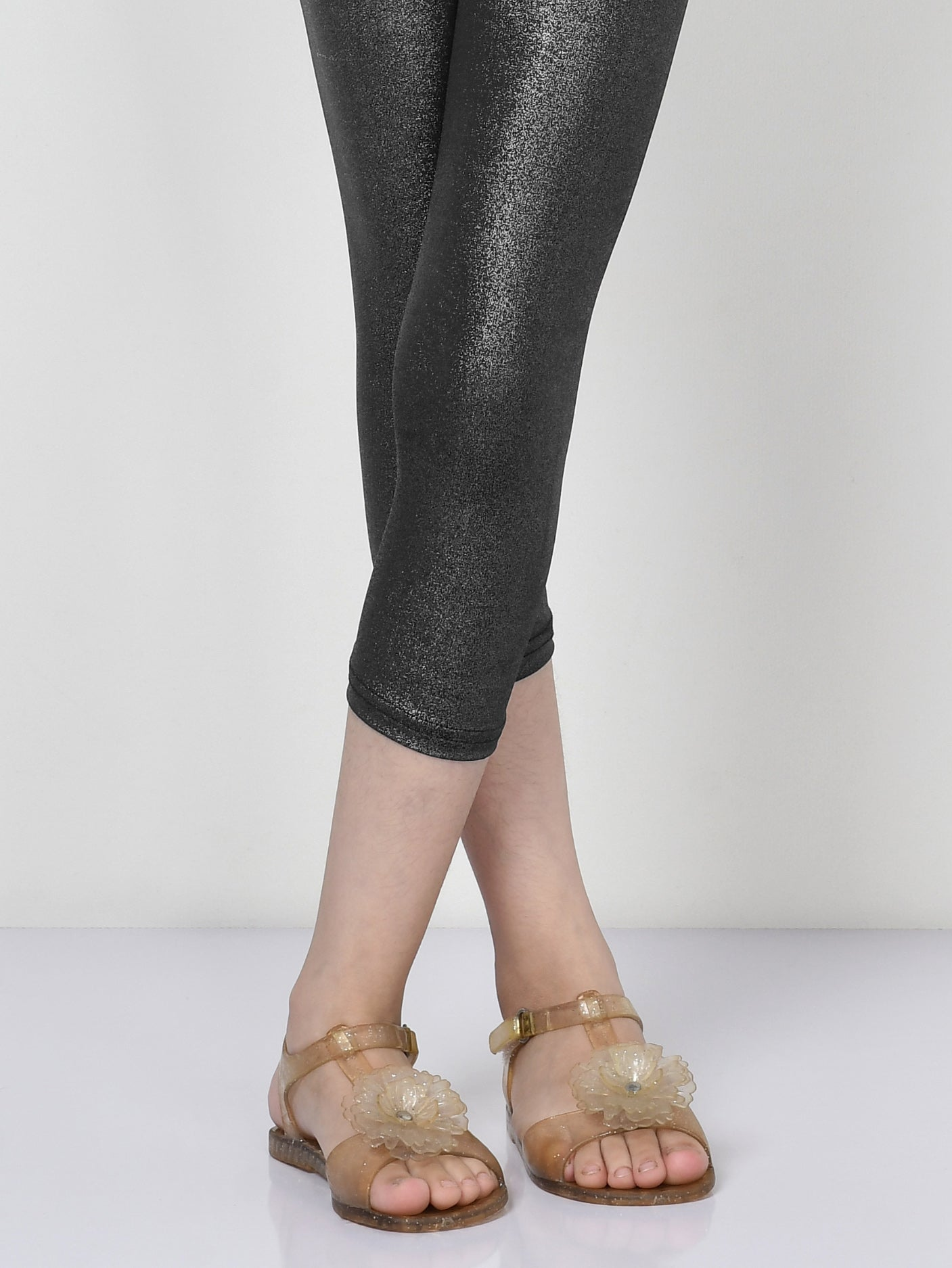 Shimmer Tights - Black and Silver