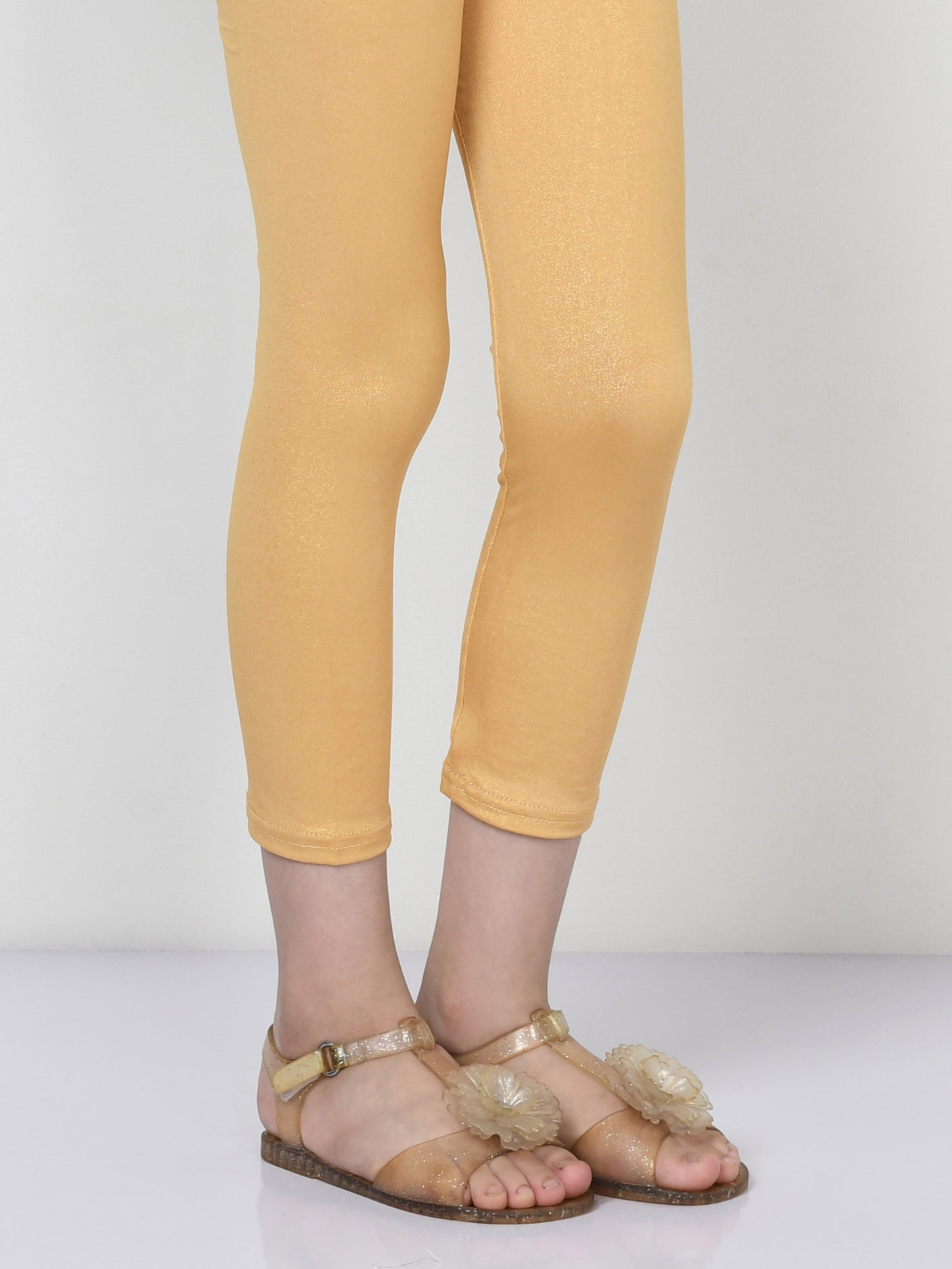 Shimmer Tights - Dark Gold