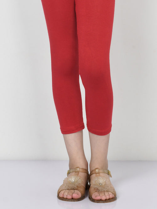 Basic Tights - Bright Red