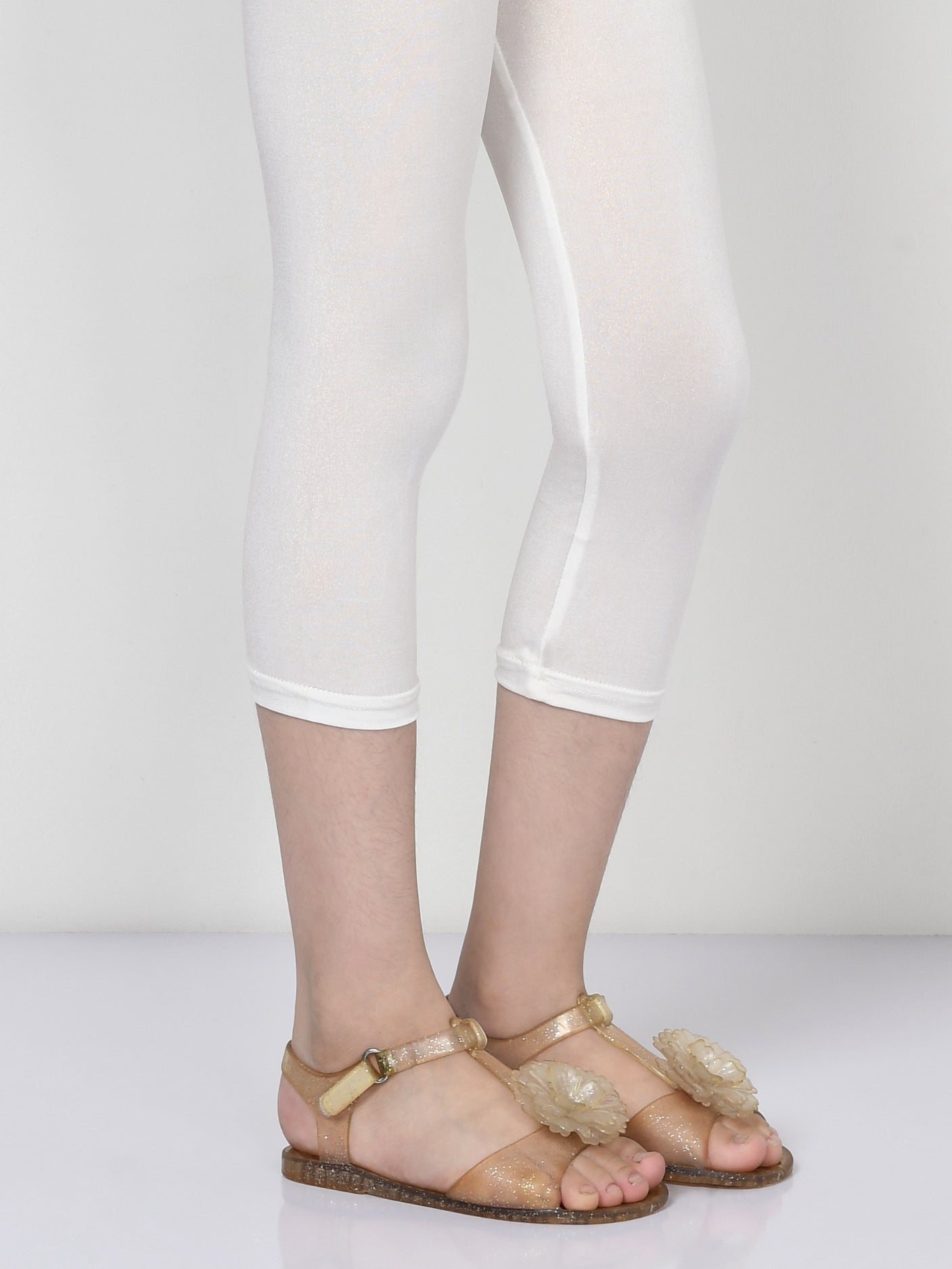 Shimmer Tights - Off White