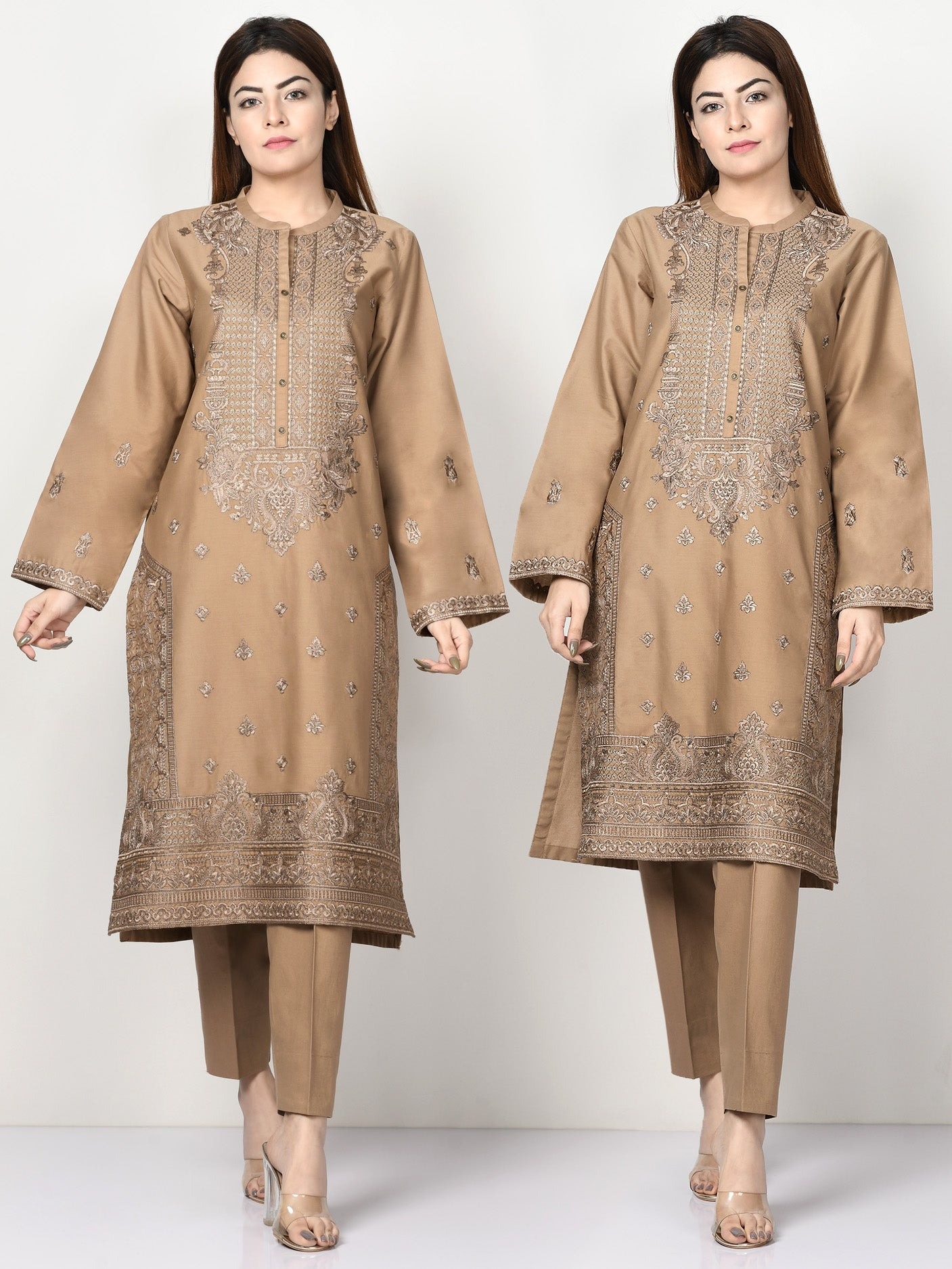 Embroidered Winter Cotton Suit