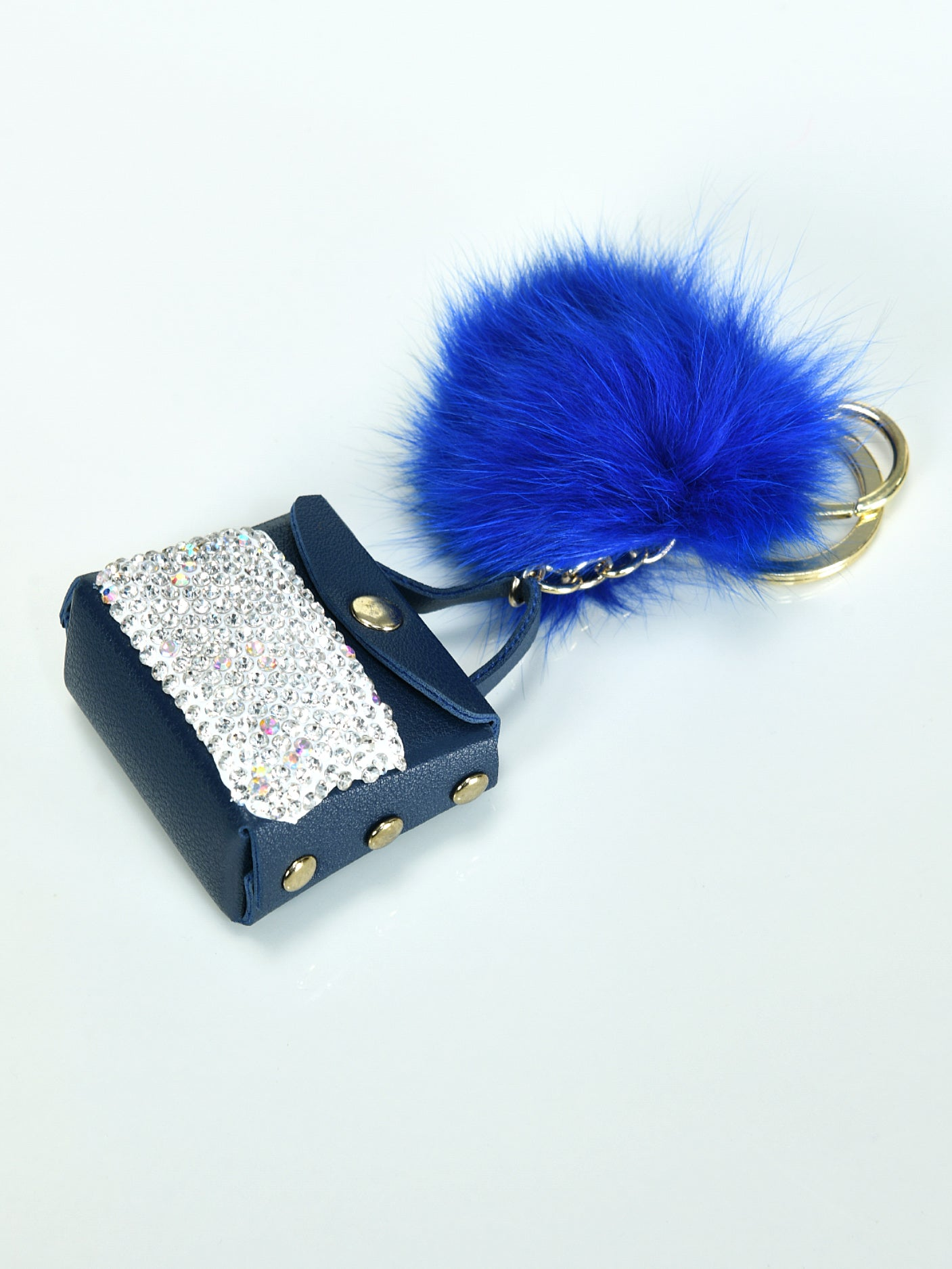 Minibag Pompom Key Chain
