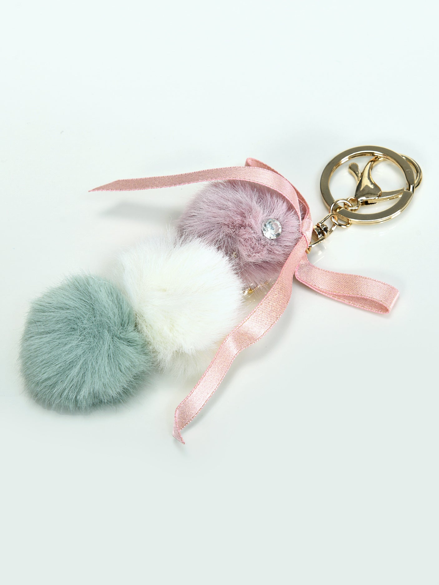 Chained Pompom Key Chain