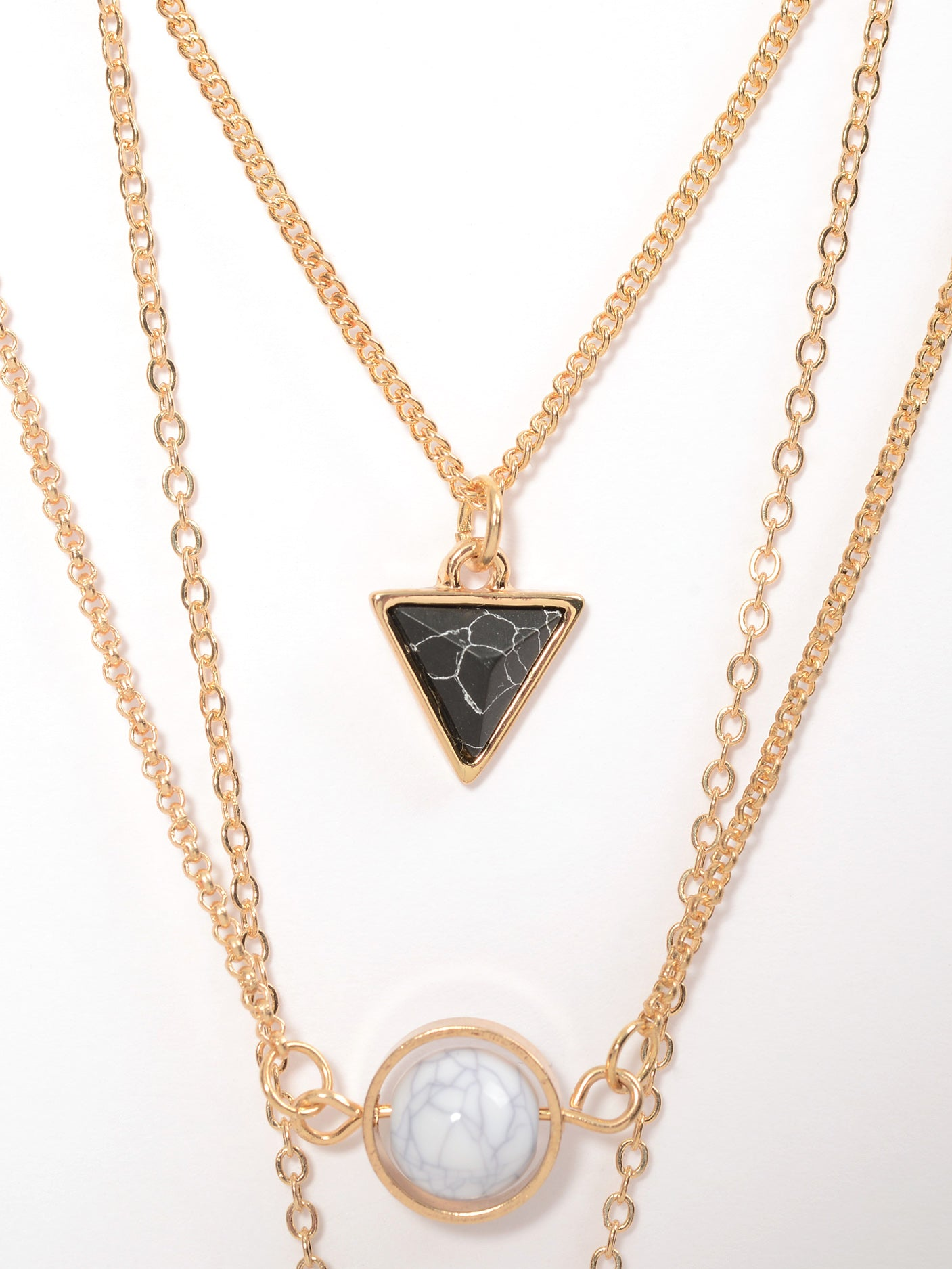 Layered Pendants Necklace