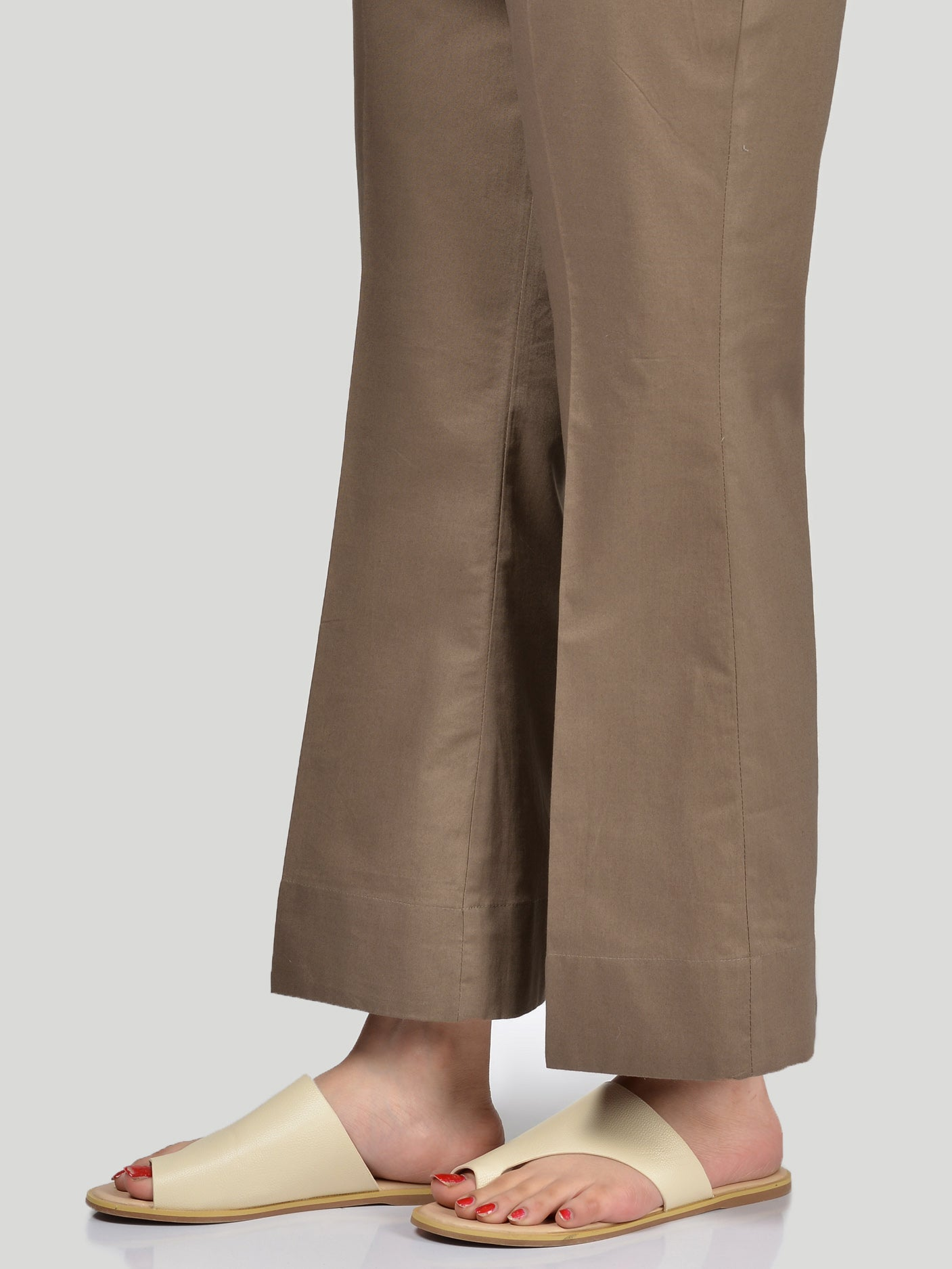 Bootcut Pants-Brown