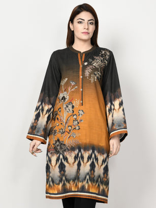 Embroidered Khaddar Suit