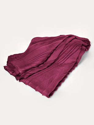 Silk Pleated Scarf