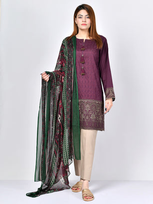 Embroidered Lawn Suit