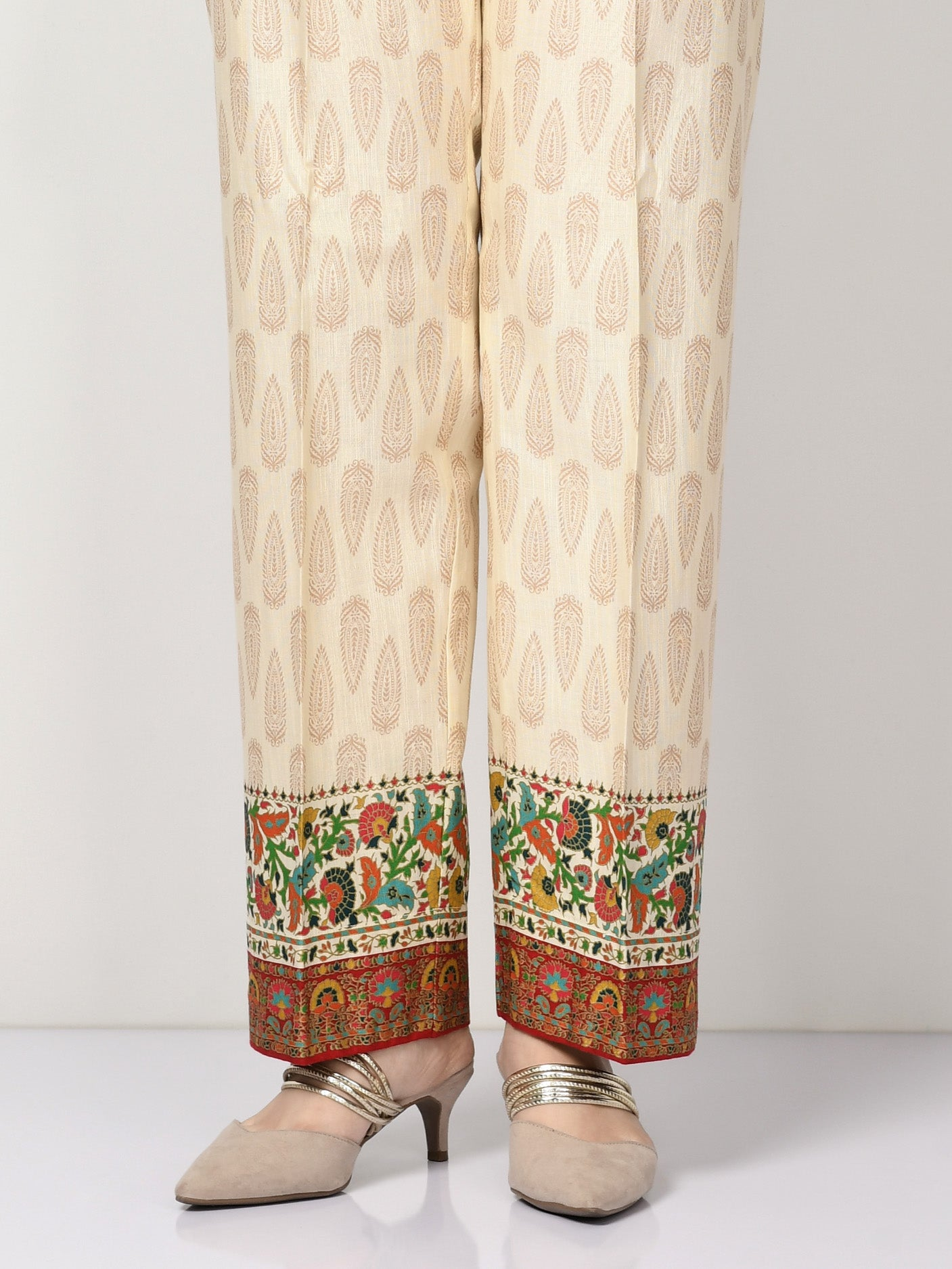 Printed Khaddar Pants