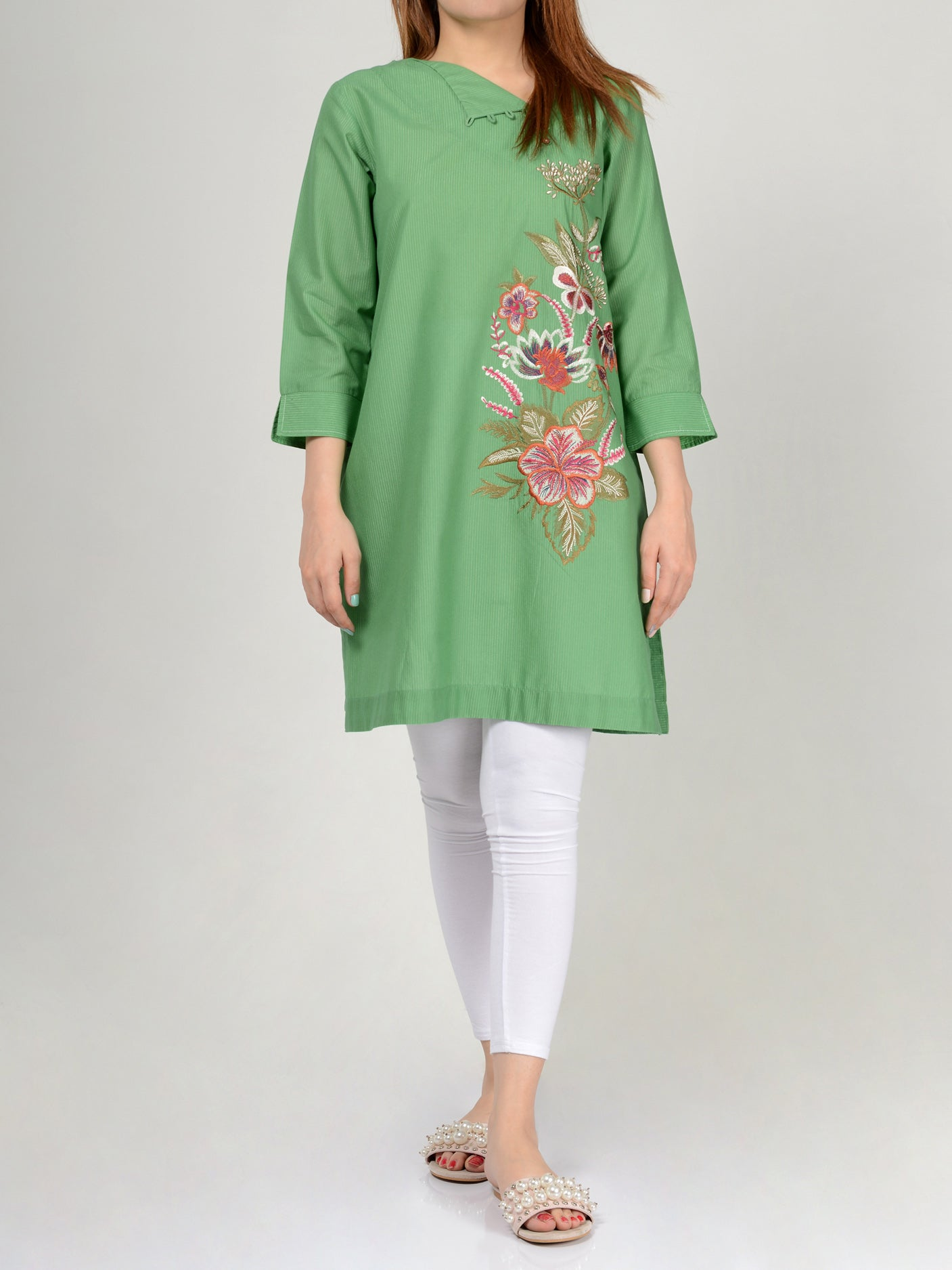 Embroidered Lawn Shirt P0242