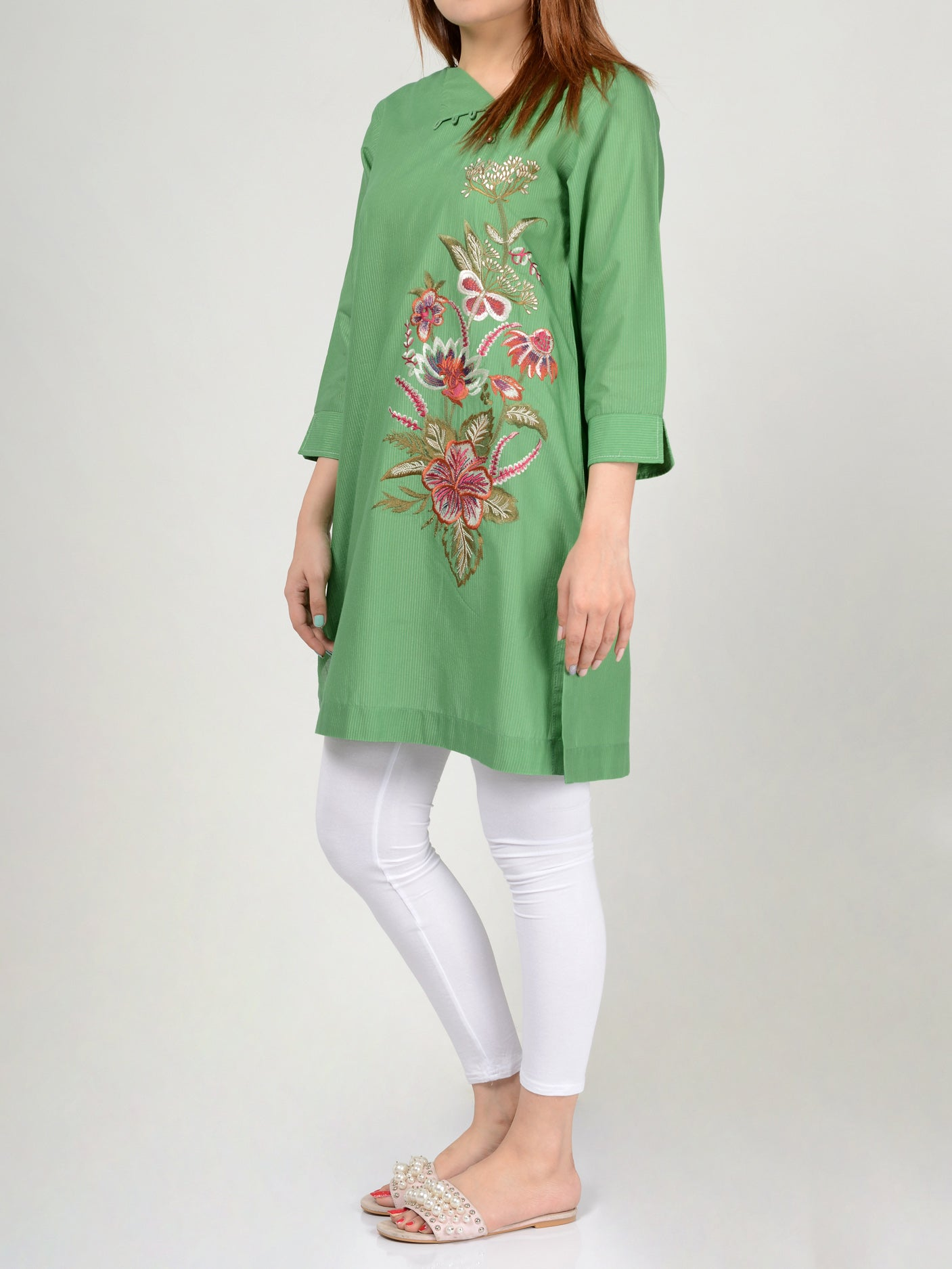 Pret Embroidered Lawn Shirt P0242 Online