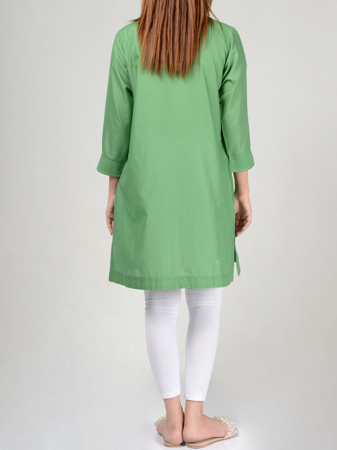 Pret Embroidered Lawn Shirt P0242 Limelight
