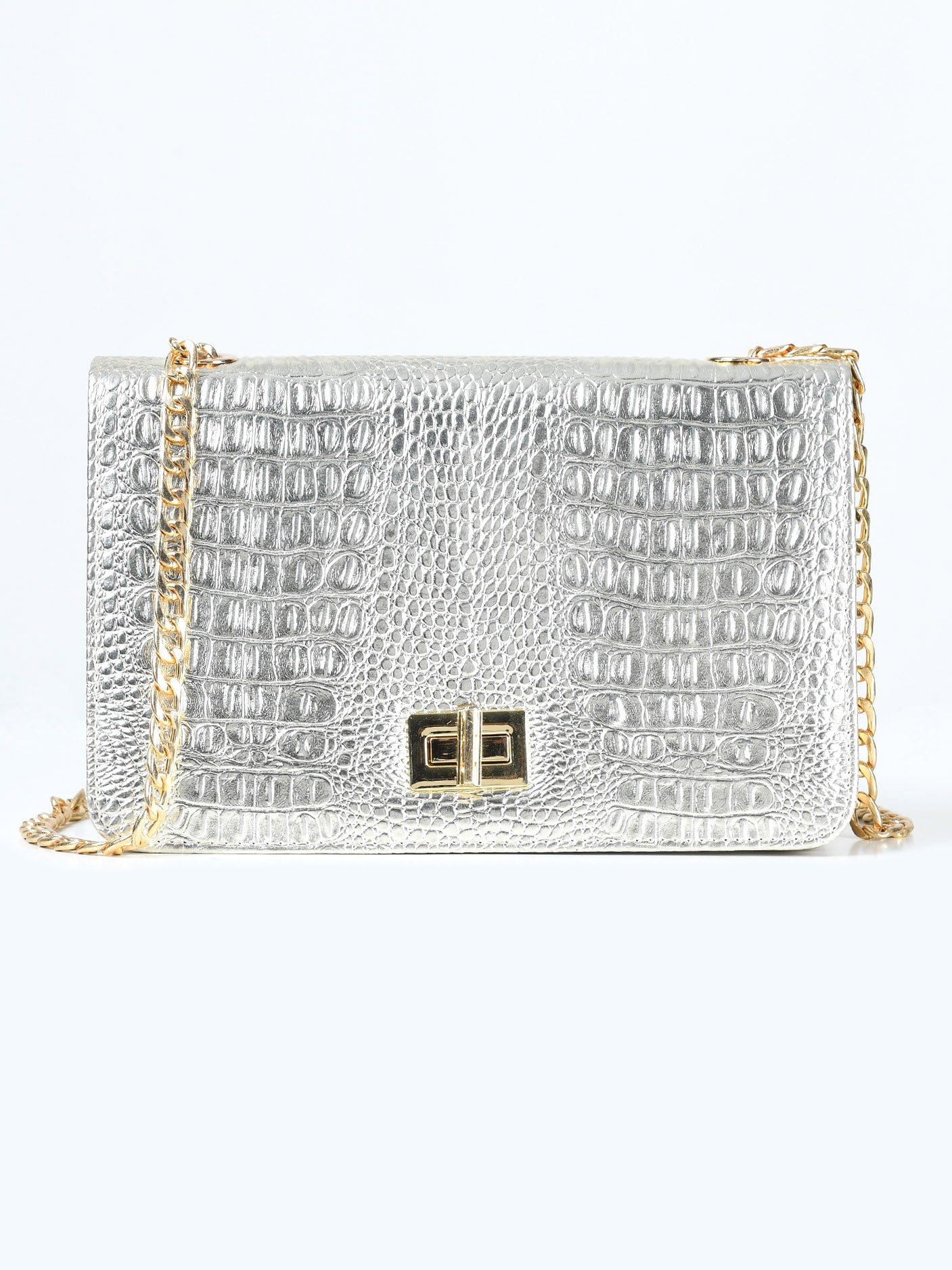 Gold Textured Handbag