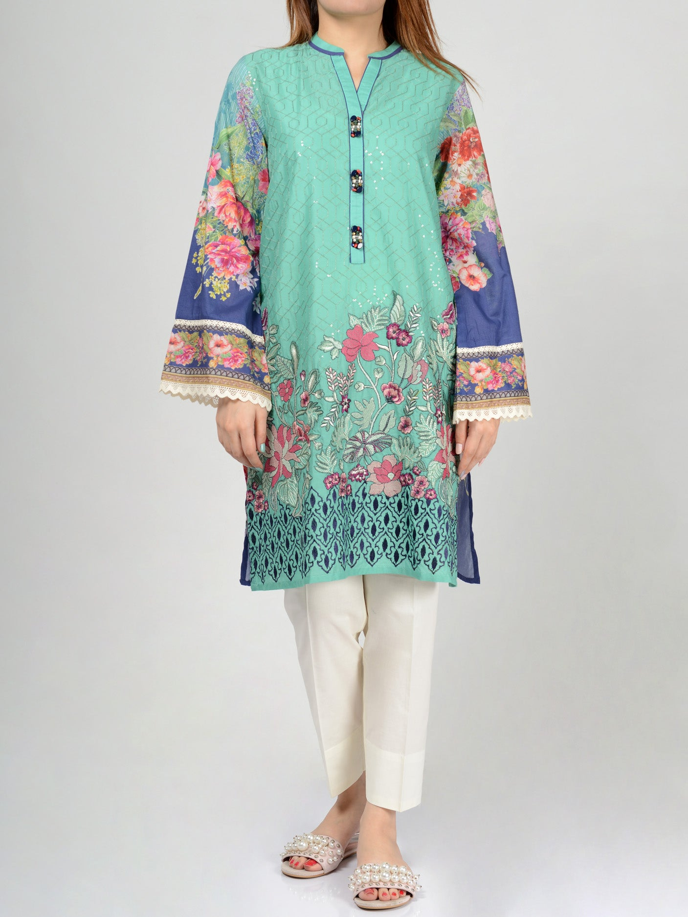 Limelight Embroidered Lawn Shirt F0015 Online