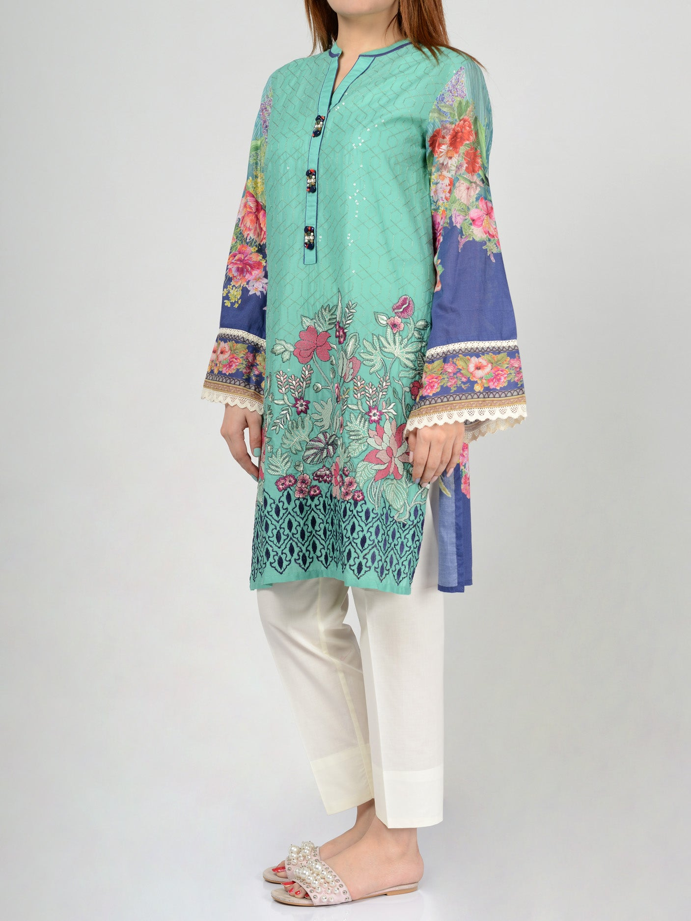 Pret Embroidered Lawn Shirt F0015