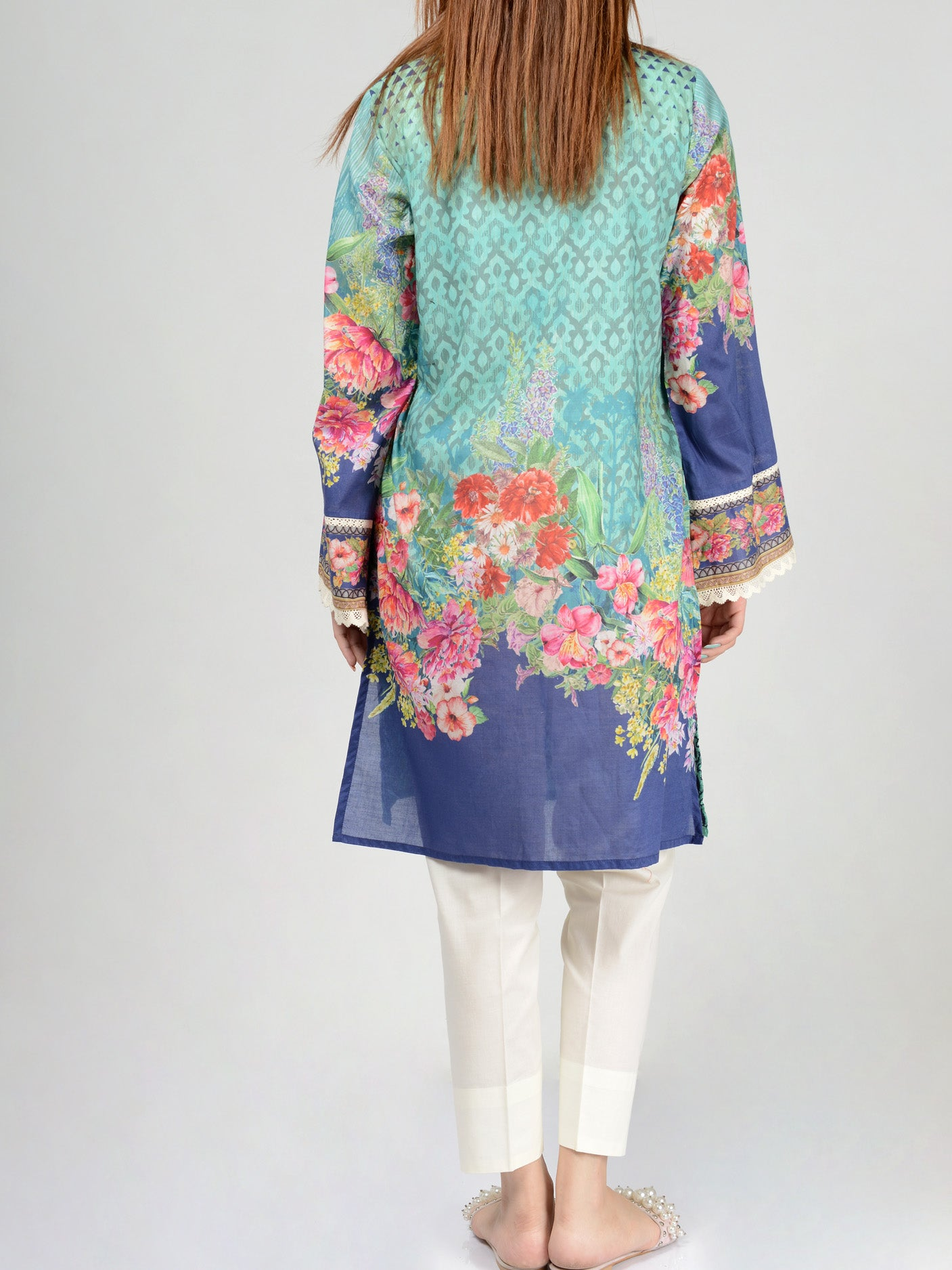 Pret Embroidered Lawn Shirt F0015 Limelight