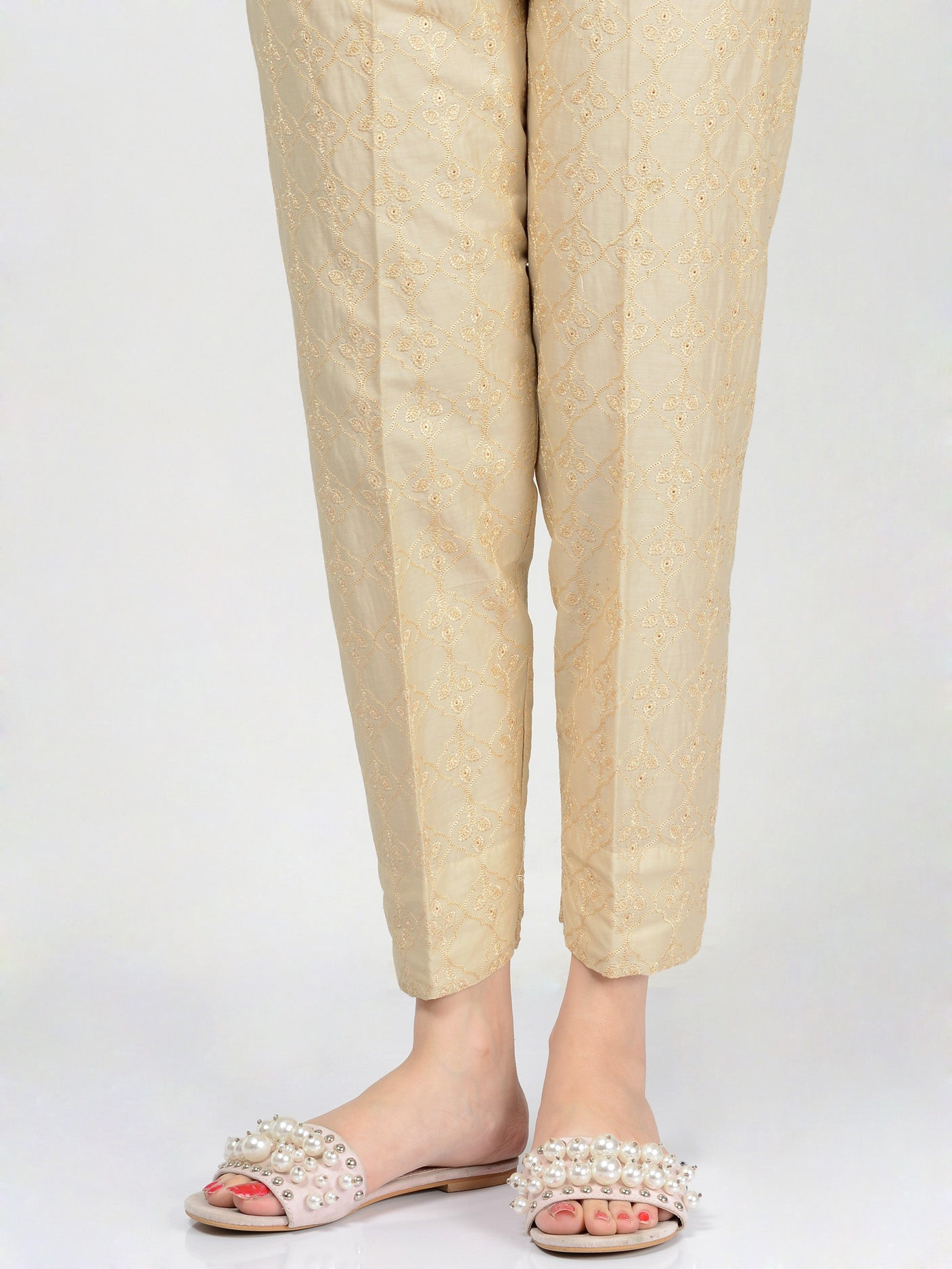 Embroidered Trouser