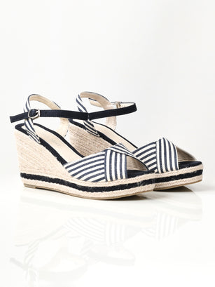 Striped Wedges - Blue