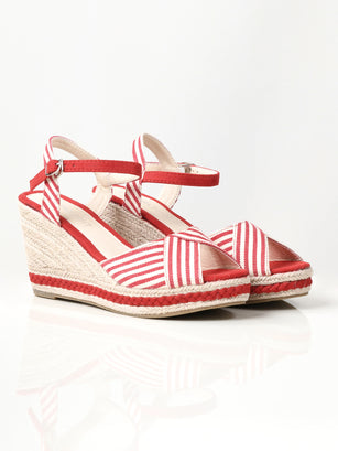 Striped Wedges - Red