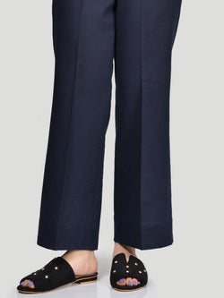 Bootcut Pants-Navy Blue