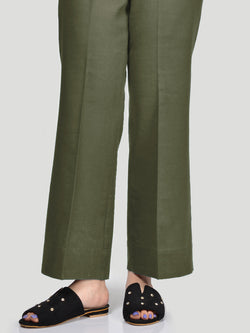Bootcut Pants-Olive