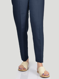 Straight Trouser-Navy Blue