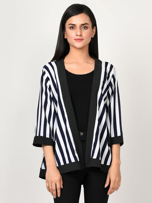 Striped Grip Cardigan
