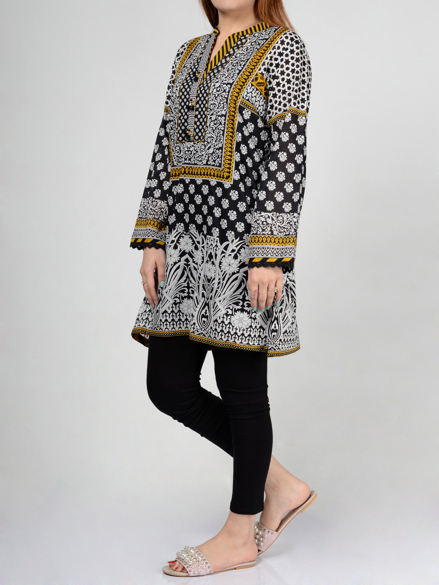 Printed Lawn Shirts Online P0131