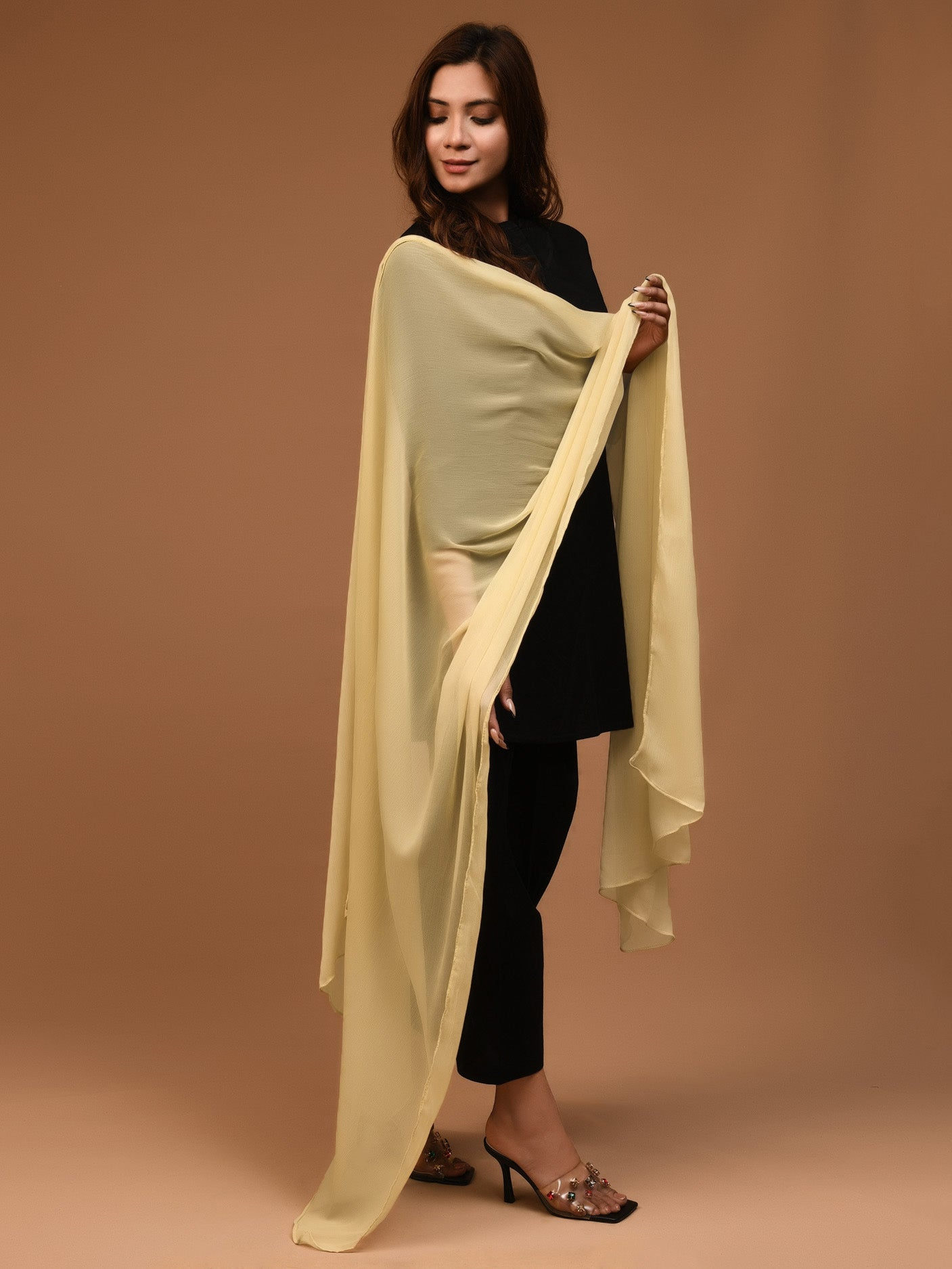 Chiffon Dupatta - Gold Yellow