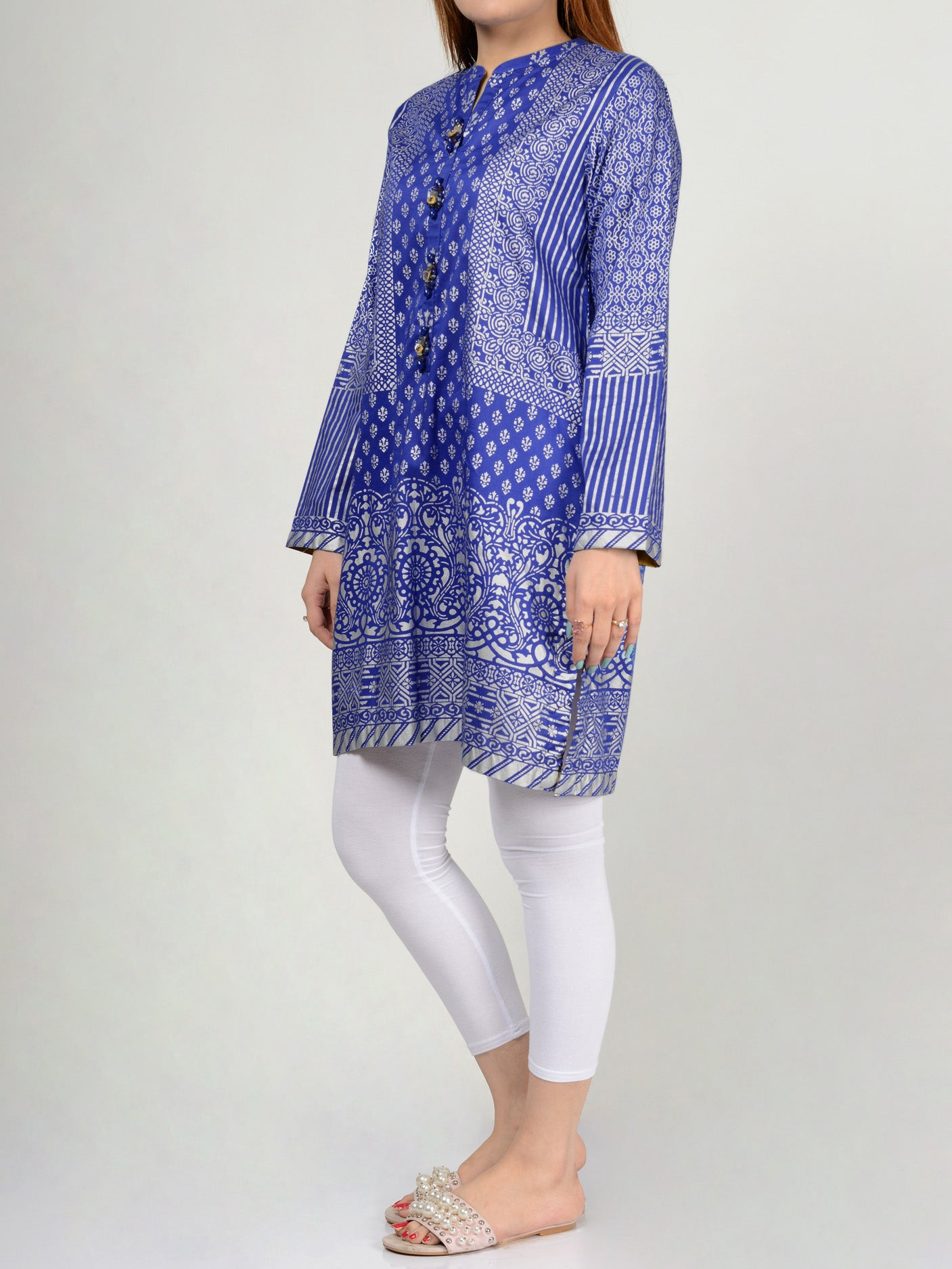 Printed Lawn Shirts Online P0122