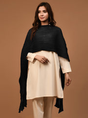 Crushed Dupatta - Black