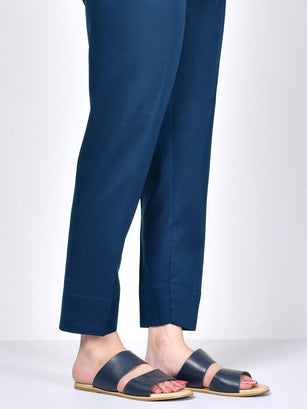 Straight Trouser-Peacock Blue