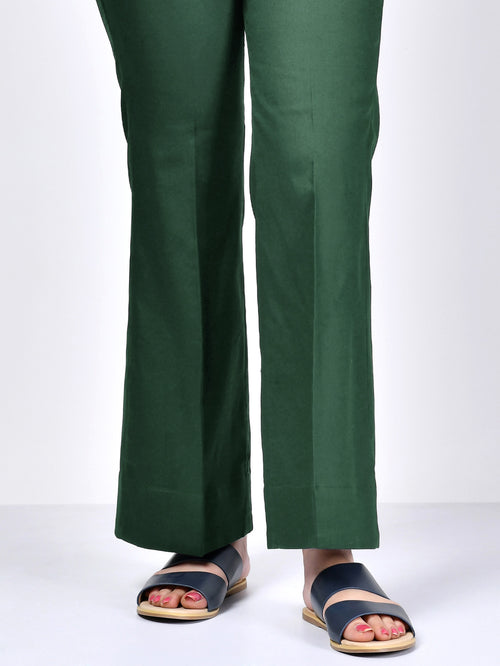 Bootcut Pants-Dark Green