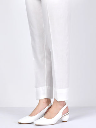 Straight Trouser-White