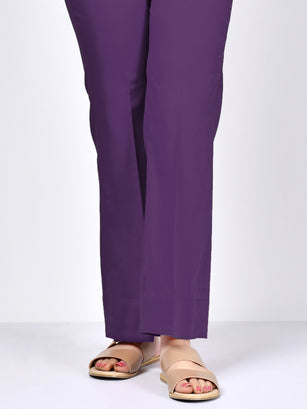 Bootcut Pants-Purple