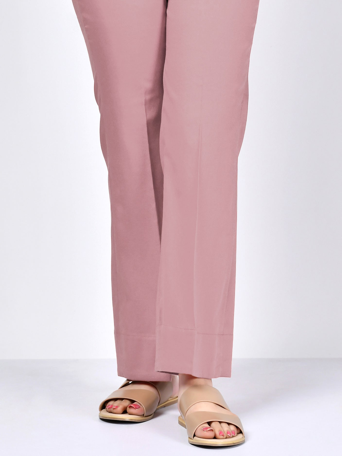 Winter Cotton Pants - Tea Pink