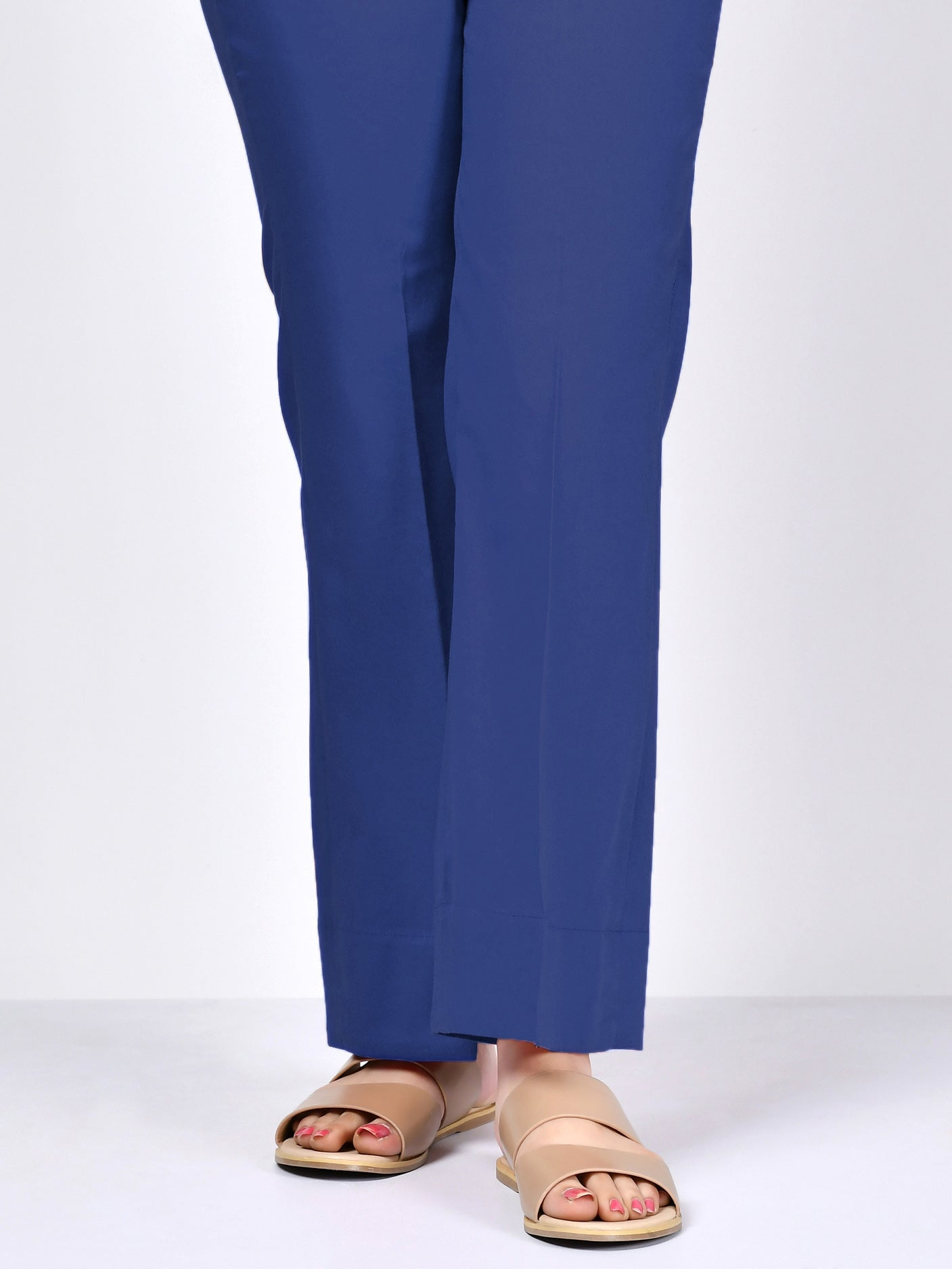 Cambric Bootcut Pants - Blue