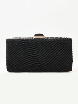 Striped Shimmer Clutch
