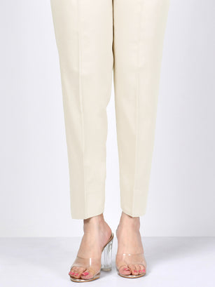 Winter Cotton Trouser - Cream