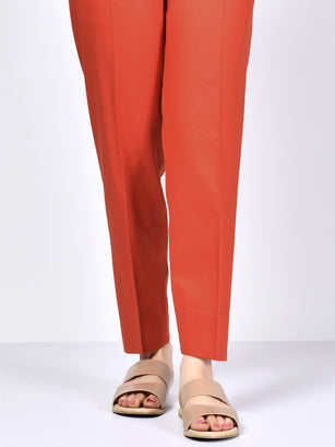 Straight Trouser-Orange