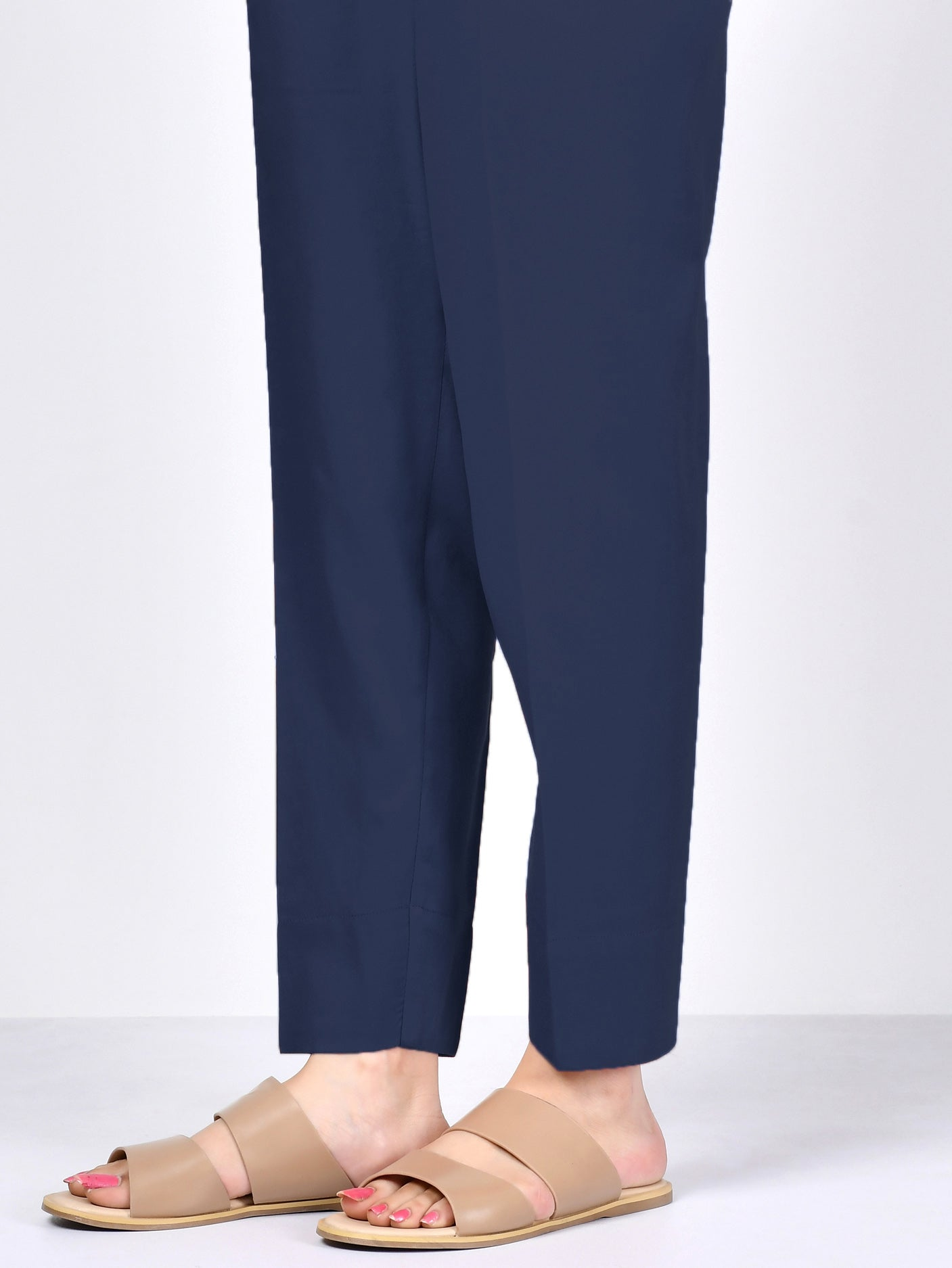 Cambric Trouser- Navy Blue