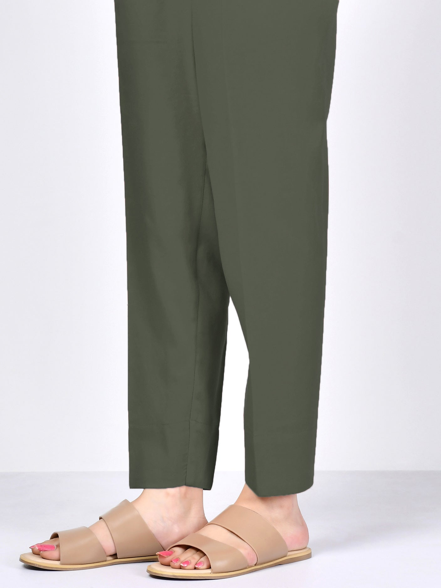 Straight Trouser - Army Green
